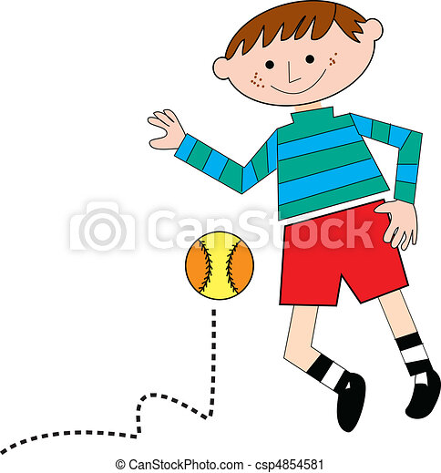kid playing with ball - csp4854581