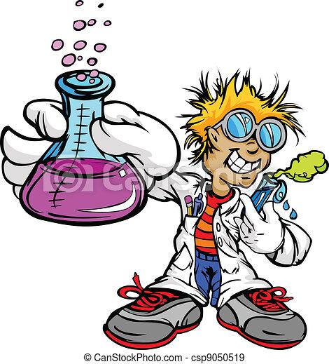Kid Scientist Inventor Boy - csp9050519