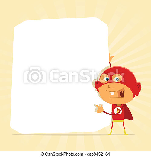 Kid Super Hero Sign - csp8452164