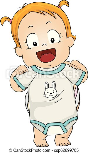 Kid Toddler Girl Pick Clothes Illustration Illustration Of A Kid