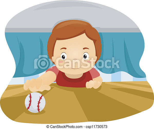 Kid Under The Bed Illustration Of A Boy Reaching Out For