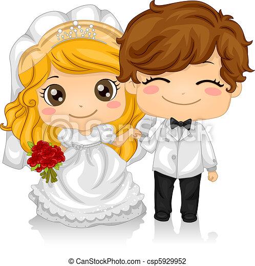 kiddie, 結婚式 - csp5929952