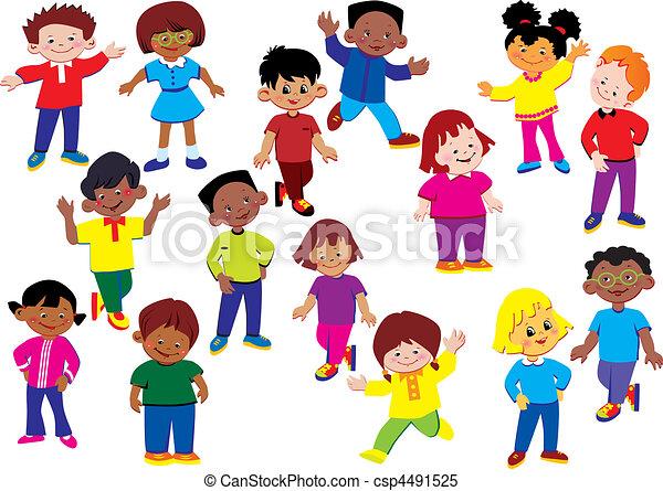 kids., šťastný - csp4491525