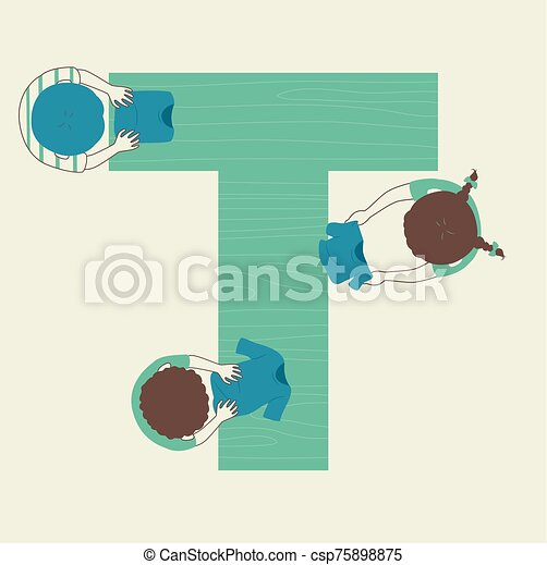 Kids Alphabet School Shirt Uniform Fold - csp75898875