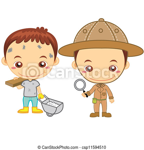 Kids And Jobs16 Vector