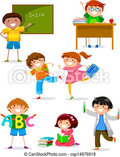 kids at school - csp14976918