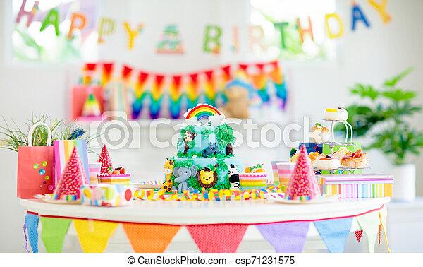 Super Kids Birthday Cake Child Jungle Theme Party Cake For Kids Funny Birthday Cards Online Alyptdamsfinfo