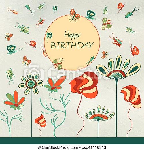 Incredible Kids Birthday Card Greeting Floral Card Happy Birthday Kids Personalised Birthday Cards Paralily Jamesorg