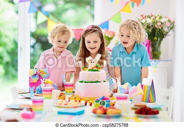 Stupendous Kids Birthday Party Children Blow Cake Candles Kids Birthday Personalised Birthday Cards Paralily Jamesorg