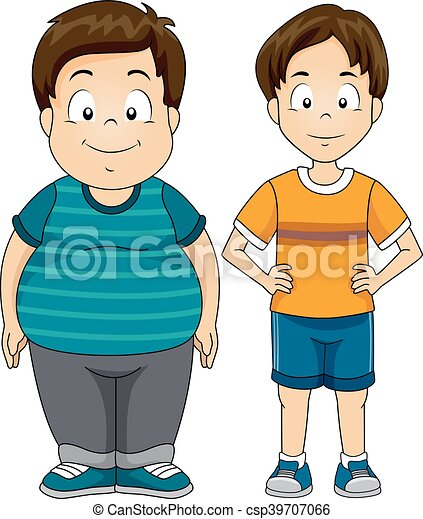 kids boys fat thin illustration featuring a fat and a skinny boy rh canstockphoto com fat clipart kid fat clipart kid