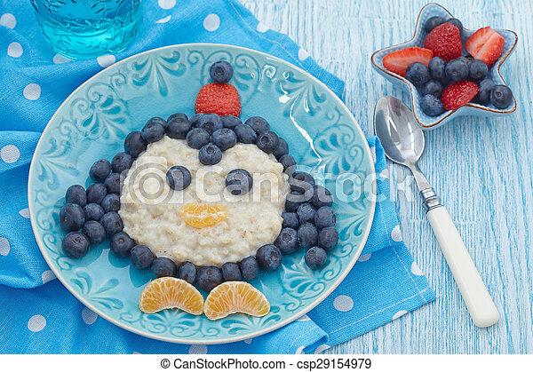 Kids breakfast porridge - csp29154979