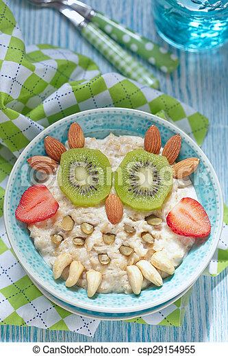 Kids breakfast porridge - csp29154955