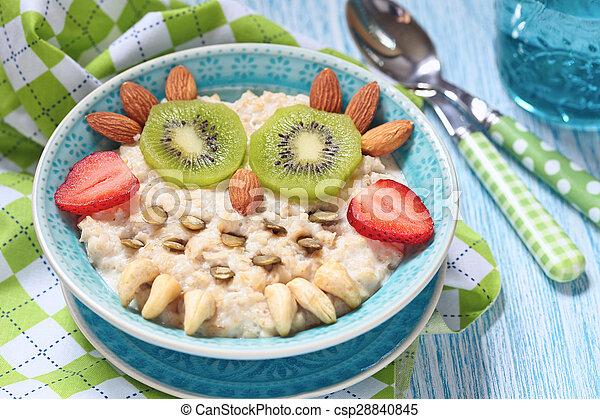 Kids breakfast porridge - csp28840845