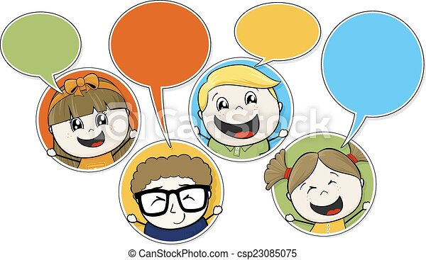 kids chat - csp23085075