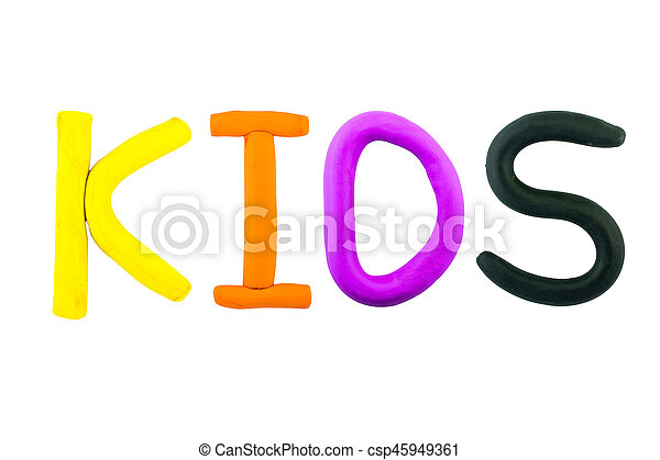 kids , clay on the white background - csp45949361
