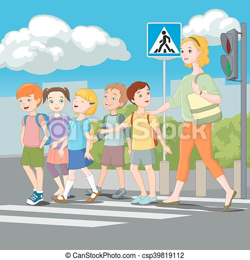 Different Scenes With Road Safety Illustration Royalty Free Cliparts,  Vectors, And Stock Illustration. Image 56548926.