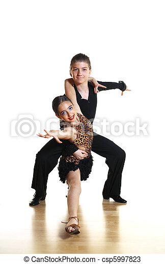 Kids dance latin - csp5997823