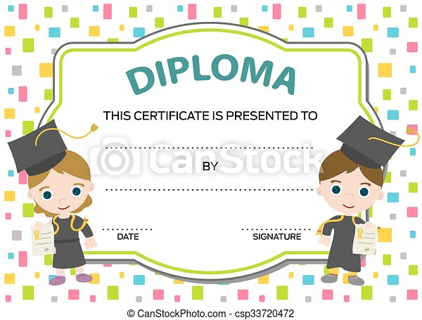 kids diploma with two graduates