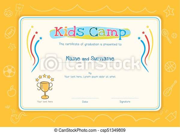 certificate of completion template vector awesome graphic library