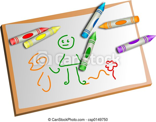 kids drawing - csp0149750