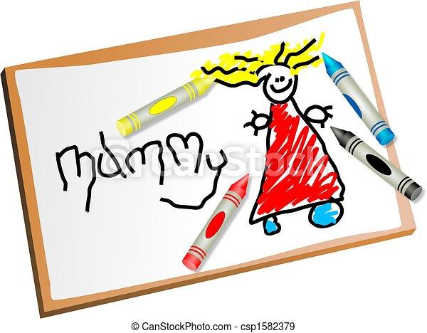 kids drawing - csp1582379