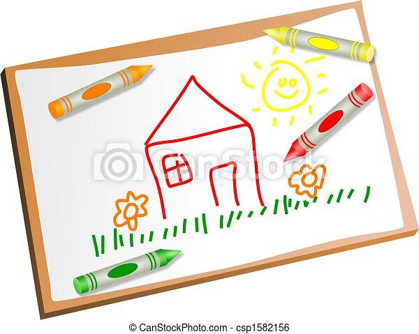 kids drawing - csp1582156