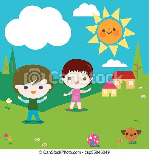 kids  - csp35046049