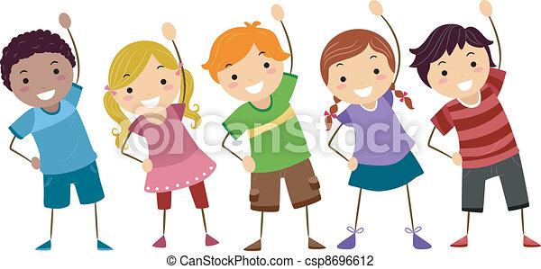 Kids Exercise - csp8696612