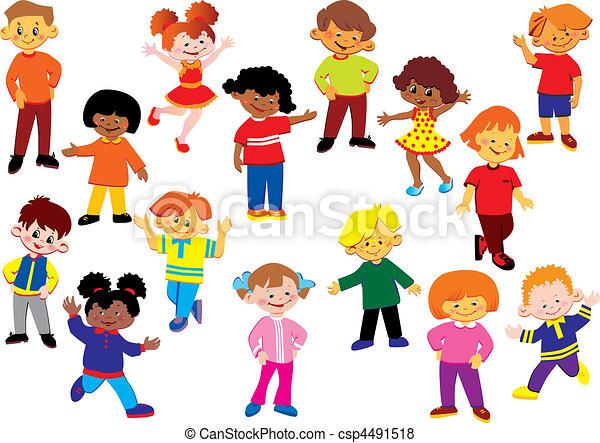 kids., feliz - csp4491518
