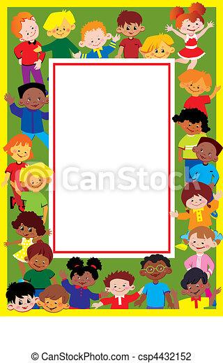 Kids frame. - csp4432152