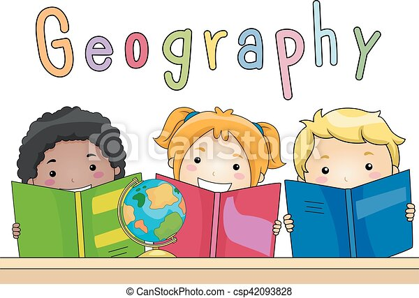 Kids Geography Books - csp42093828