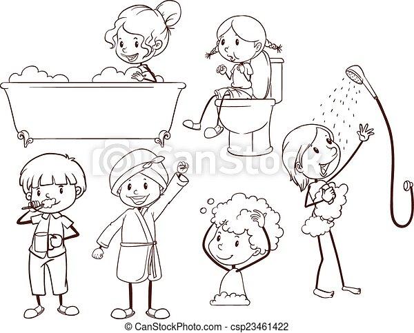 kids grooming csp23461422
