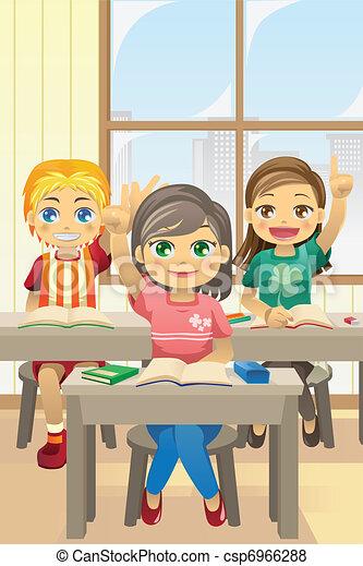 Kids in classroom - csp6966288