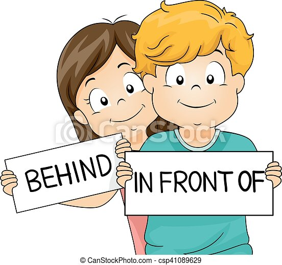 Kids In Front Of Behind - csp41089629