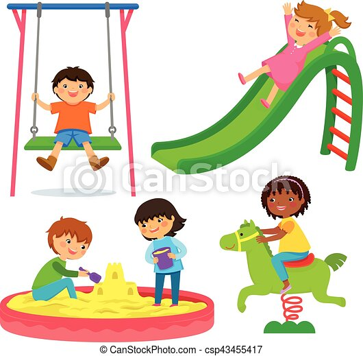 kids in the playground - csp43455417