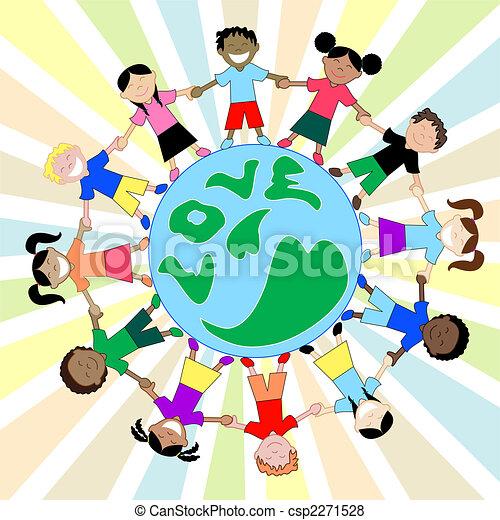 Kids Love Globe - csp2271528