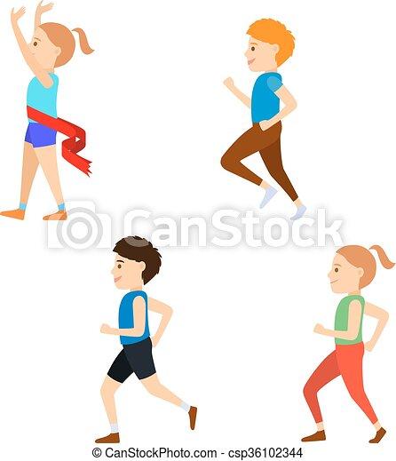 Marathon competitors clipart. Free download transparent .PNG | Creazilla