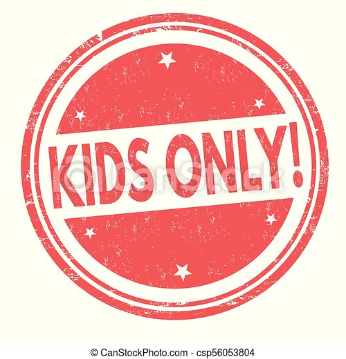 Kids Only Grunge Rubber Stamp