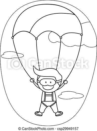 e99ed8c585f Kids parachute boy - csp29949157