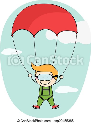 e6df97deb35 Kids parachute boy - csp29455385