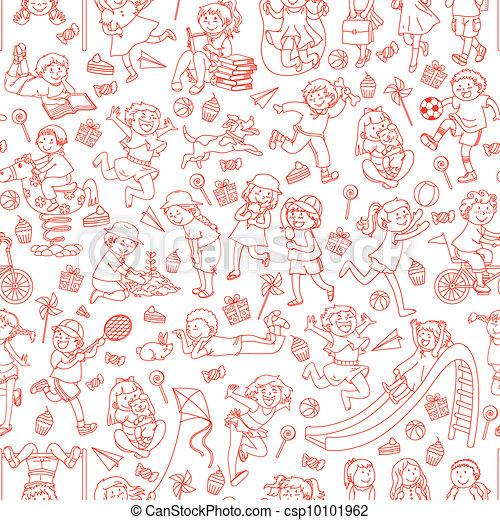 kids pattern - csp10101962