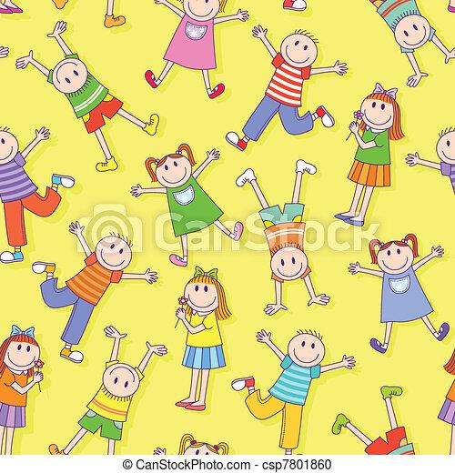 kids pattern - csp7801860