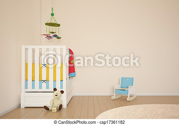 Kids play room with bed - csp17361182