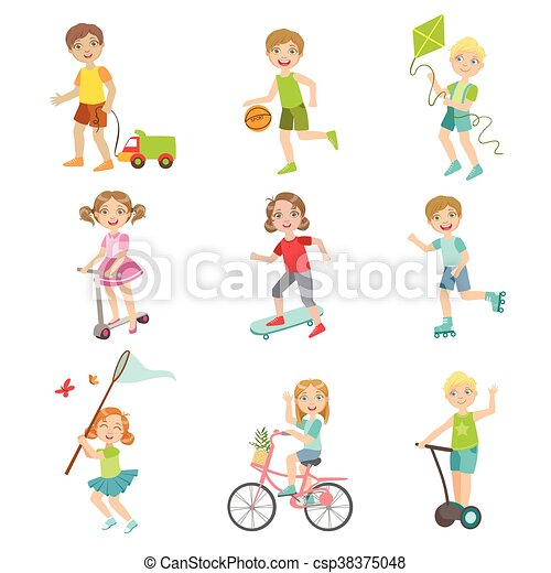 Playing Outside Clip Art Sport