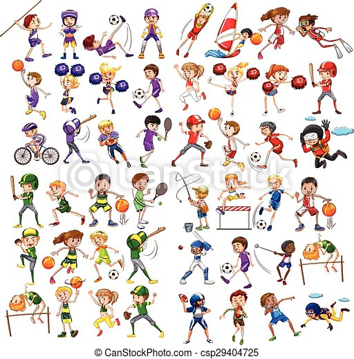 Kids playing various sports - csp29404725