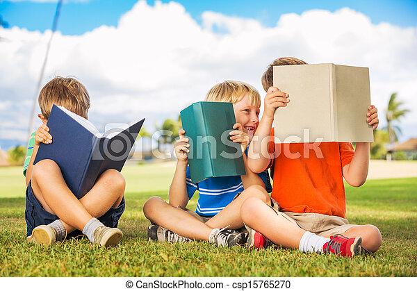 Kids Reading Books - csp15765270