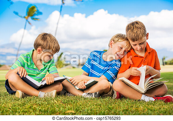Kids Reading Books - csp15765293
