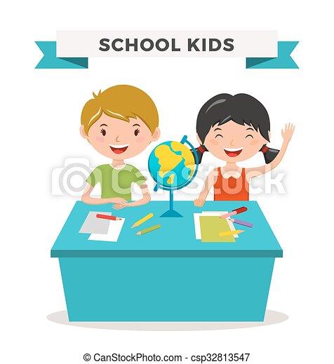 8516ffd374d Kids school geography lessons illustration