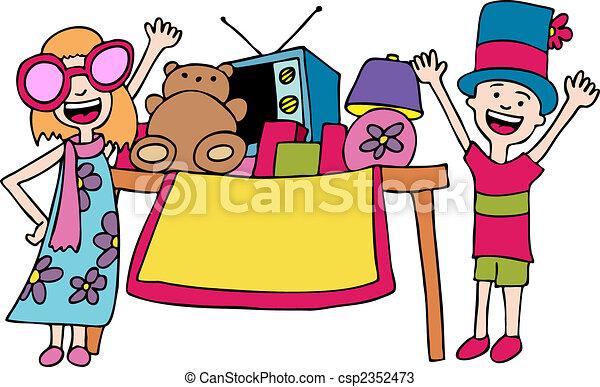 Kids Selling - csp2352473