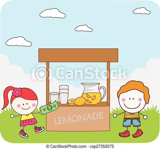 Kids selling juice vectors illustration search clipart for How to sell drawings online